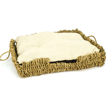 Seagrass and Burlap Square Bed