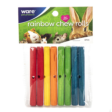 Rainbow Chews, Rolls, 8pc