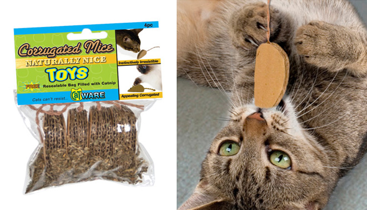 Corrugated Mice, 4pcs w/Catnip