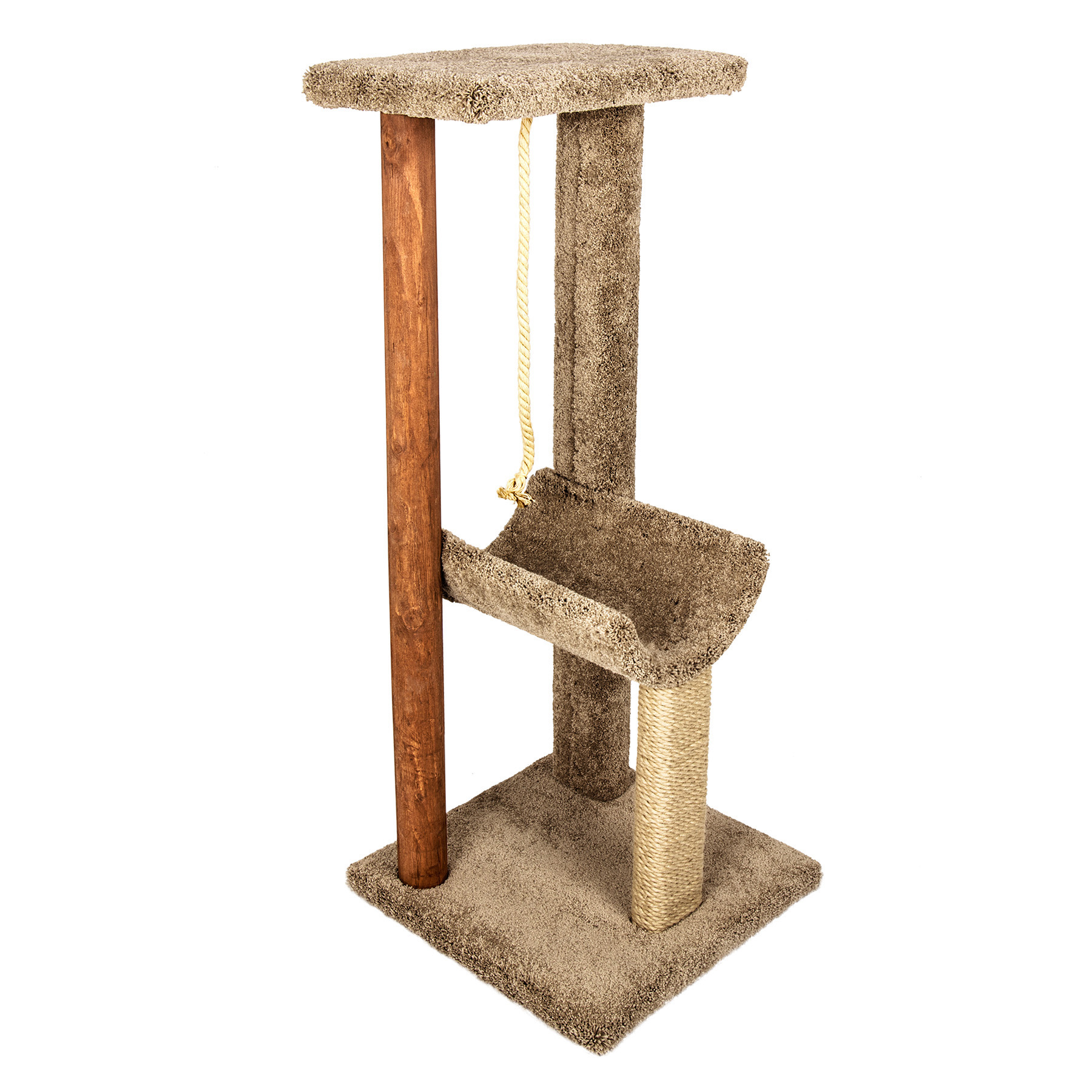 Kitty Cat Tower w/ Rope