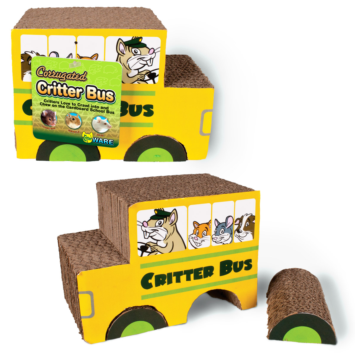 Corrugated Critter Bus