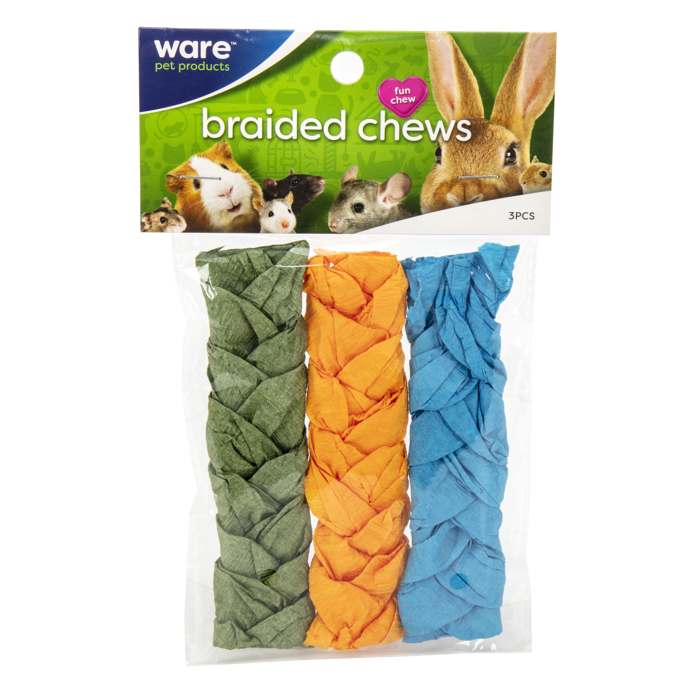 Braided Chew, Large 3pc